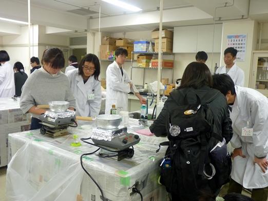 化学実験パート