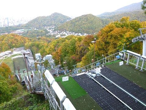 大倉山ジャンプ台から見下ろす光景
